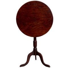 George III Elm and Oak Tripod Table