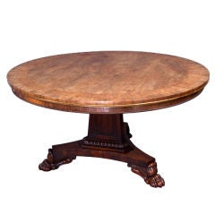Exceptional Regency Period Rosewood and Marquetry Breakfast Table