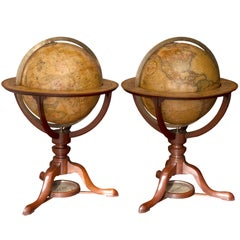 Pair of George III Terrestrial and Celestial Table Globes