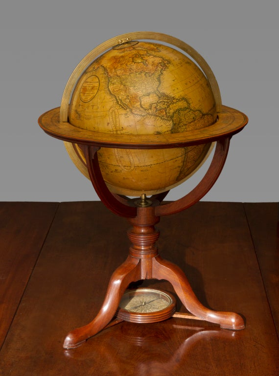19th Century Pair of George III Terrestrial and Celestial Table Globes For Sale