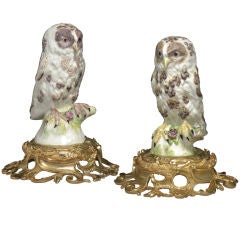An extremely rare and important pair of Bow Owls