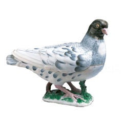 Strasbourg rare Pigeon Tureen and Cover