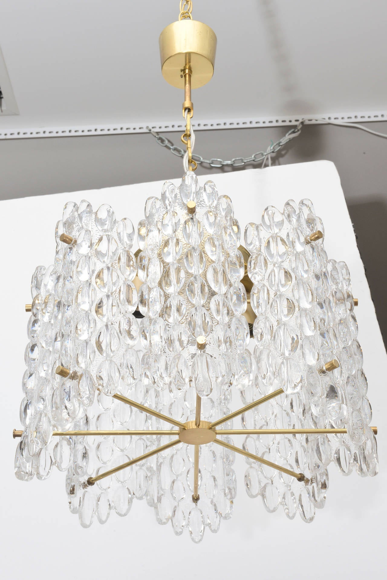 carl fagerlund mid century modern glass chandelier at 1stdibs. Black Bedroom Furniture Sets. Home Design Ideas