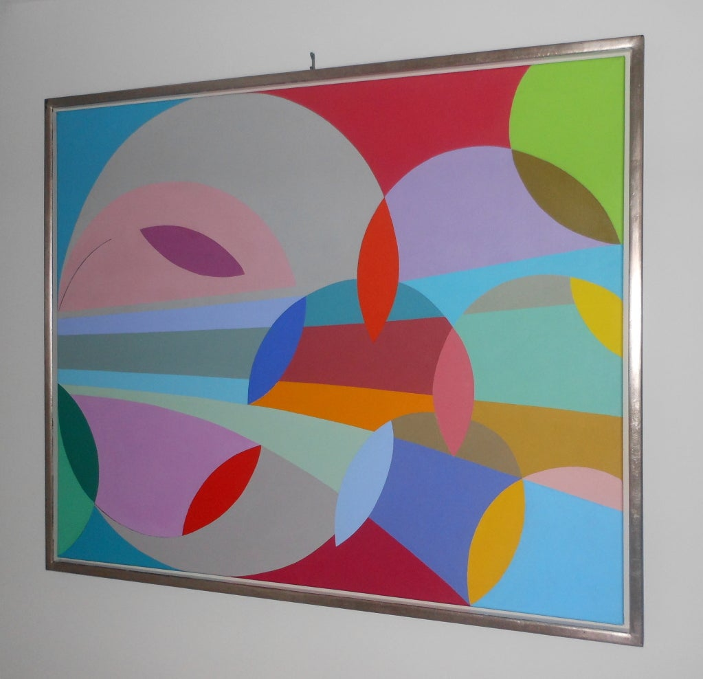 Danish Abstract Composition By Lillian De Neergaard For Sale At 1stdibs