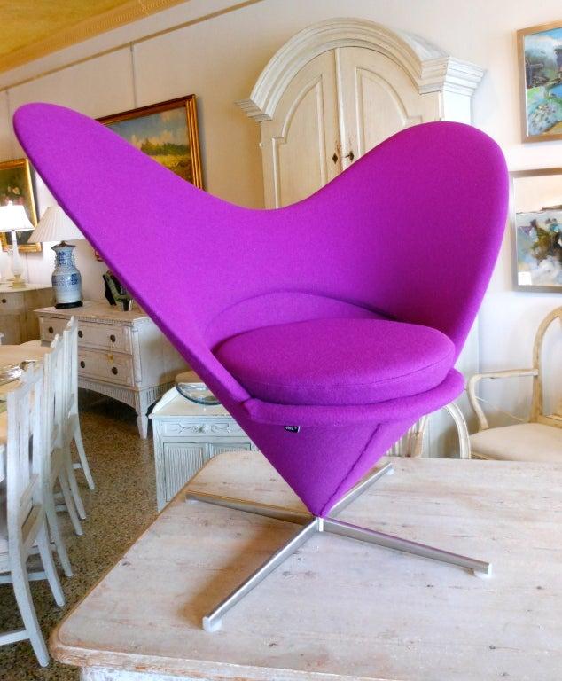 Danish Design Verner Panton Heart Cone Chair 2