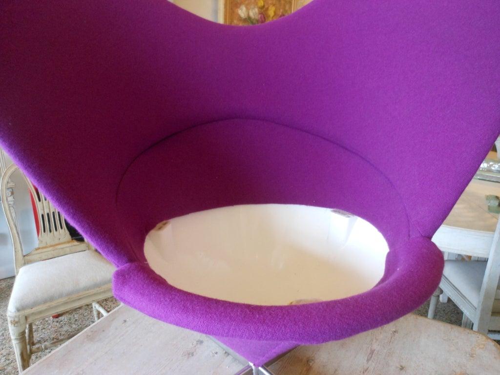 Danish Design Verner Panton Heart Cone Chair 8