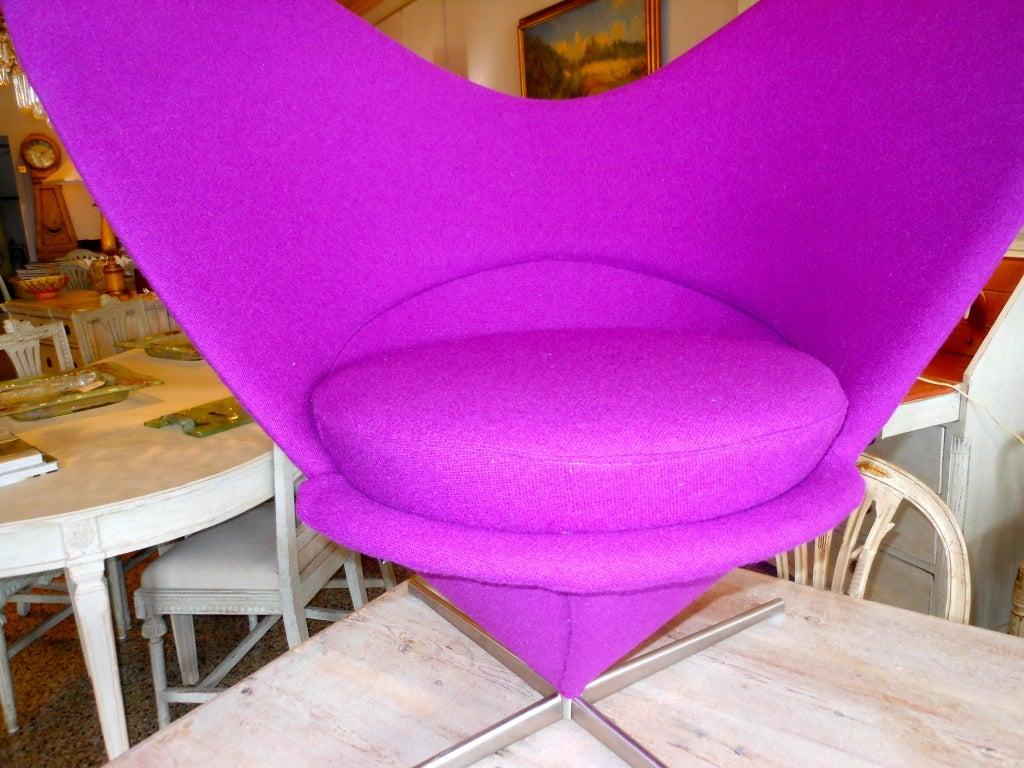 Danish Design Verner Panton Heart Cone Chair 9