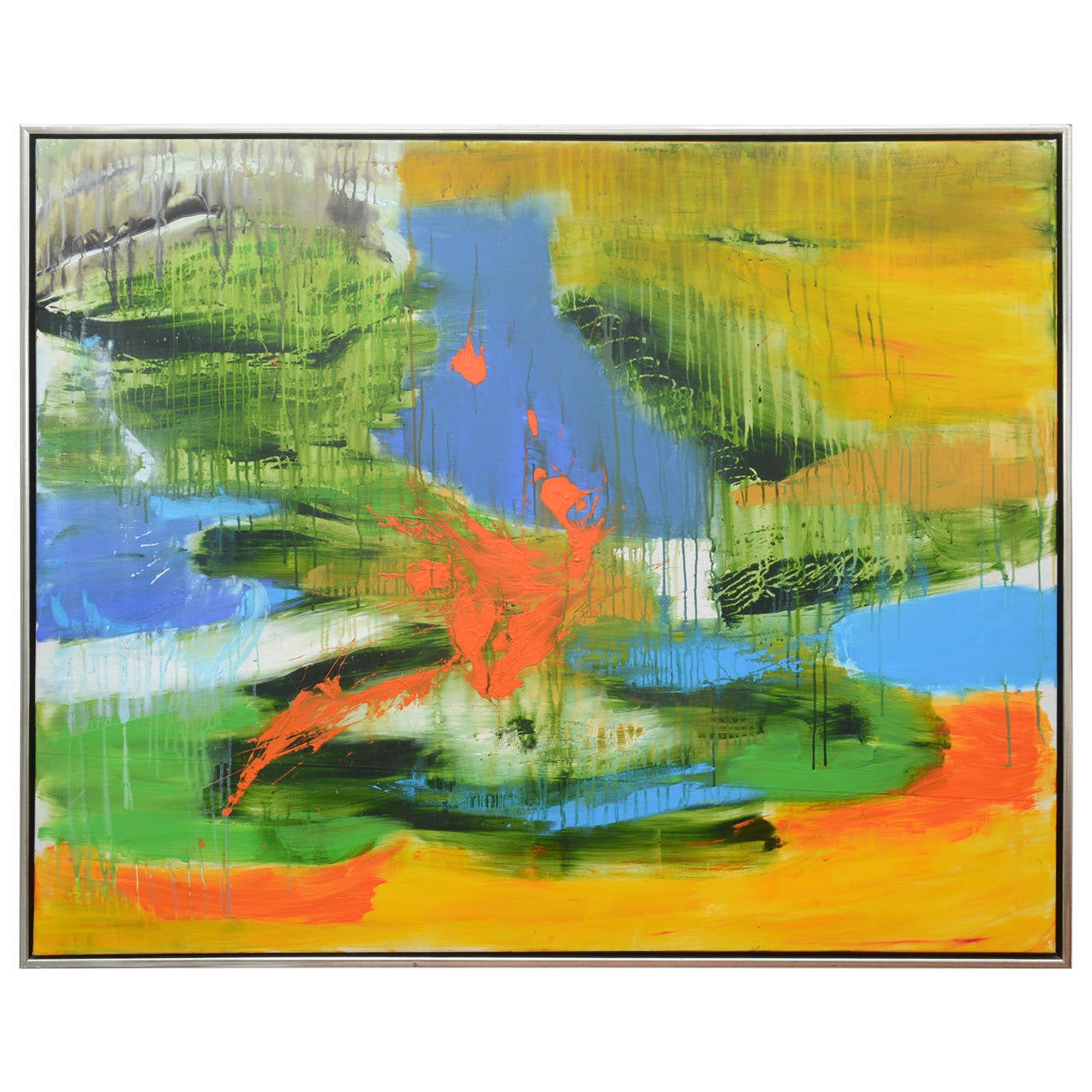 Danish Abstract Composition by Erling Leick For Sale at 1stdibs