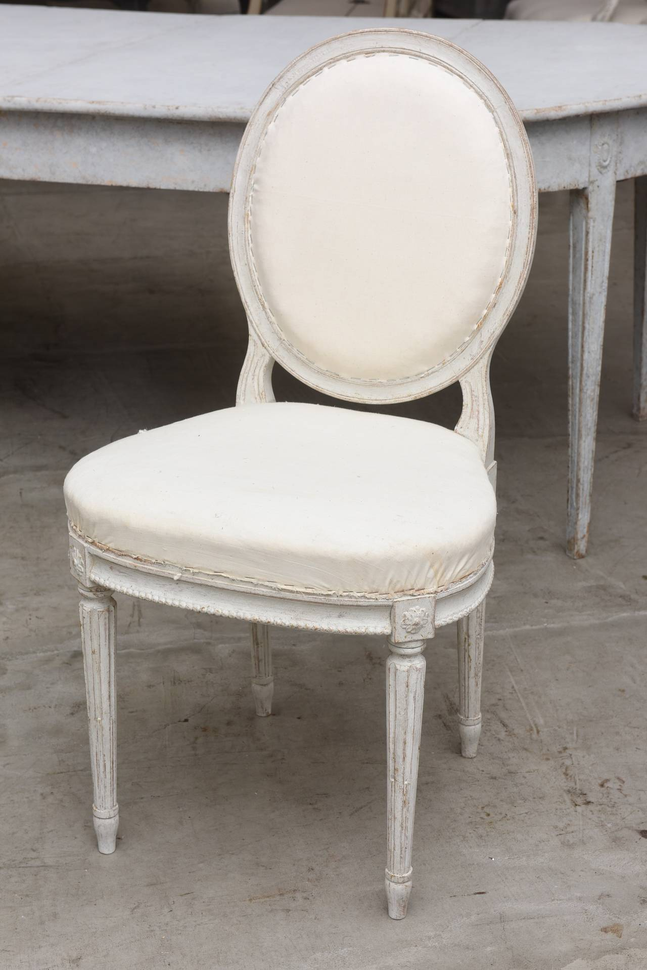 Set of Ten 19th Century Antique Swedish Gustavian Dining Chairs 4