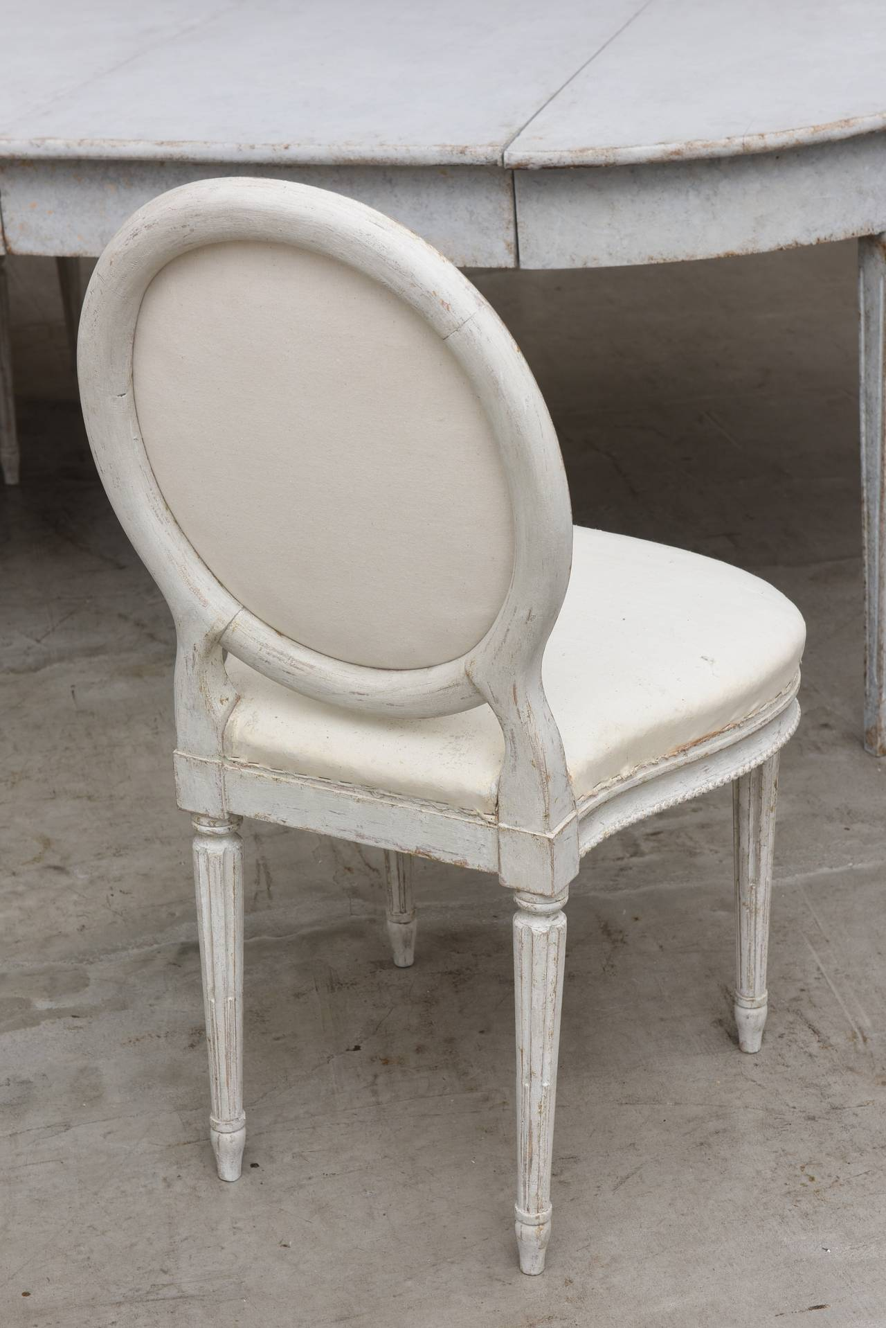 Set of Ten 19th Century Antique Swedish Gustavian Dining Chairs 6