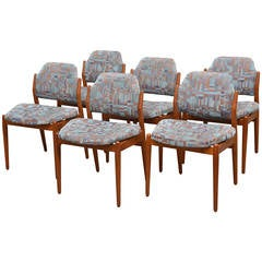 Set of Six Teak Danish Modern Dining Chairs by Arne Vodder