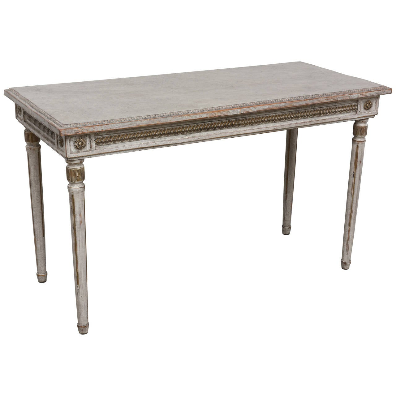 Painted antique swedish console table mid 19th century at for Painted foyer tables
