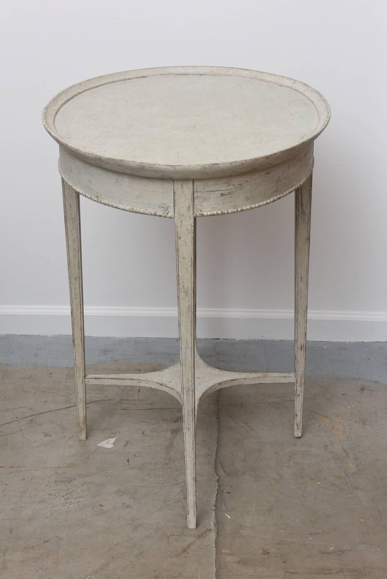 Antique swedish oval side table with drawer th century