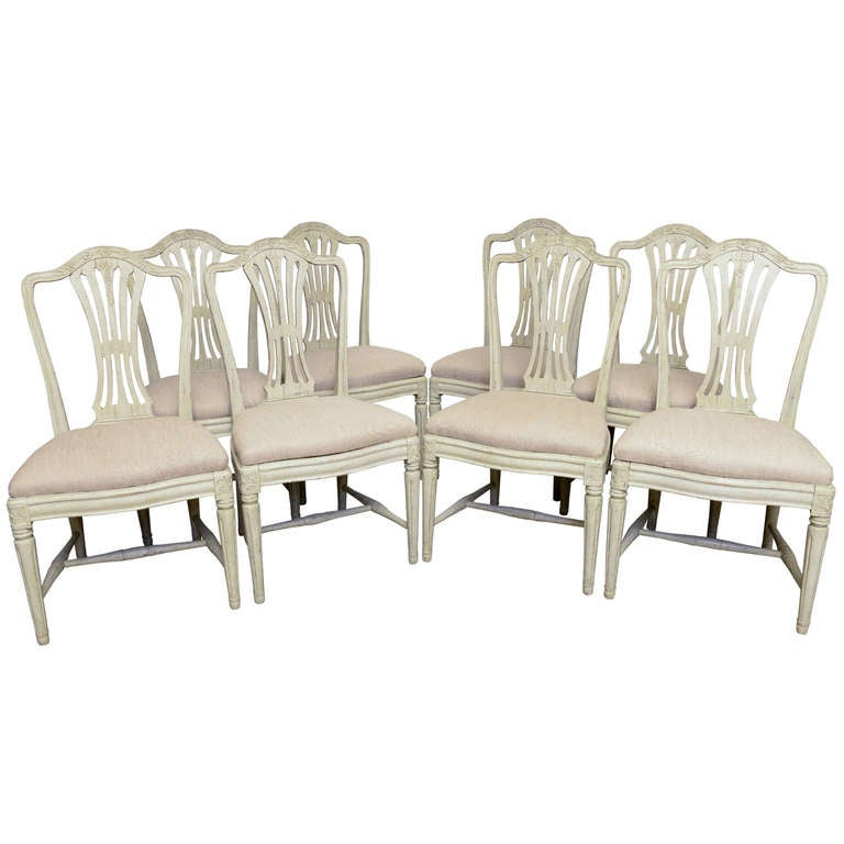 group of antique swedish dining room painted chairs at 1stdibs