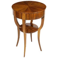 Biedermeier Single Drawer Occasional Table