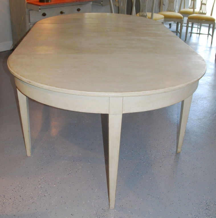 scandinavian swedish painted dining room table at 1stdibs