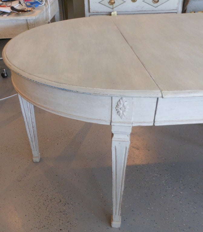19th Century Antique Swedish Painted Dining Table image 5