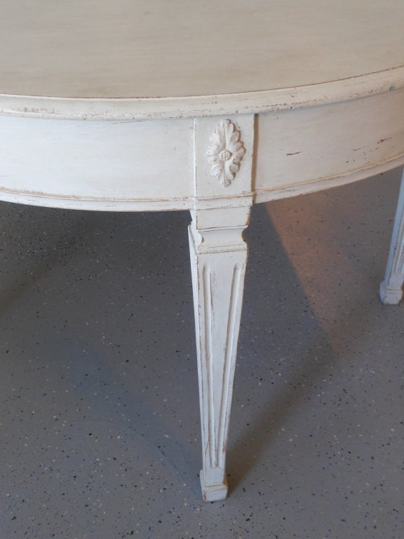 19th Century Antique Swedish Painted Dining Table image 8