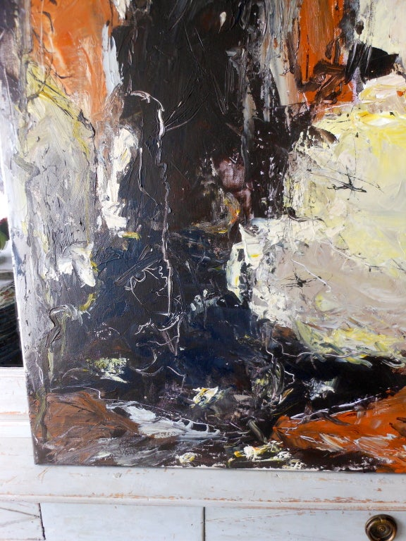 Contemporary Danish Abstract Expressionist Oil Painting by John Hansen For Sale