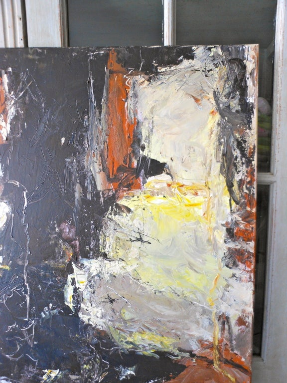 Danish Abstract Expressionist Oil Painting by John Hansen For Sale 1