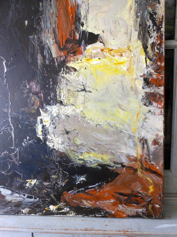 Danish Abstract Expressionist Oil Painting by John Hansen For Sale 2