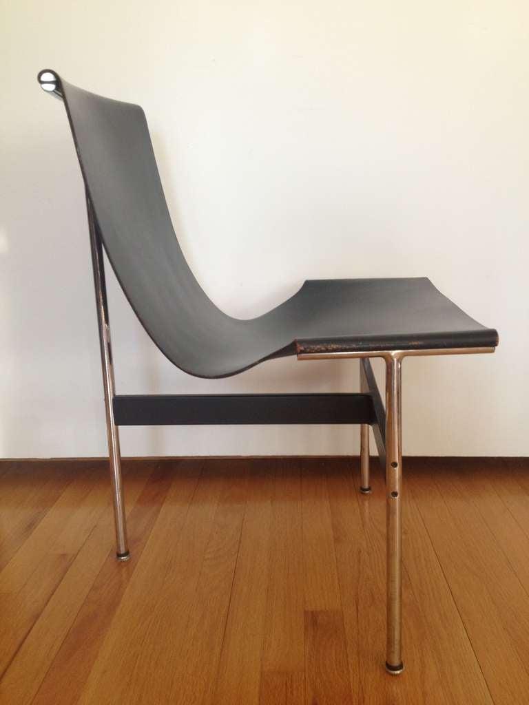 Leather 8 Lavern T Chair Katavolos Littell & Kelley For Sale