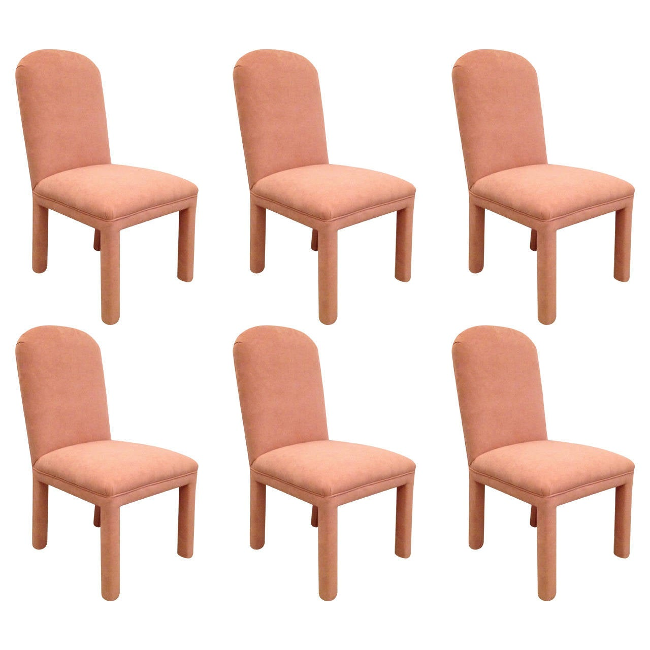 Set of Six Dining Chairs Ultrasuede For Sale