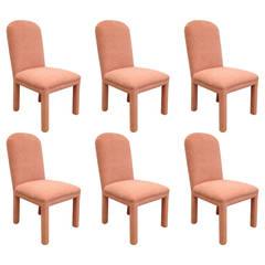 Set of Six Dining Chairs Ultrasuede