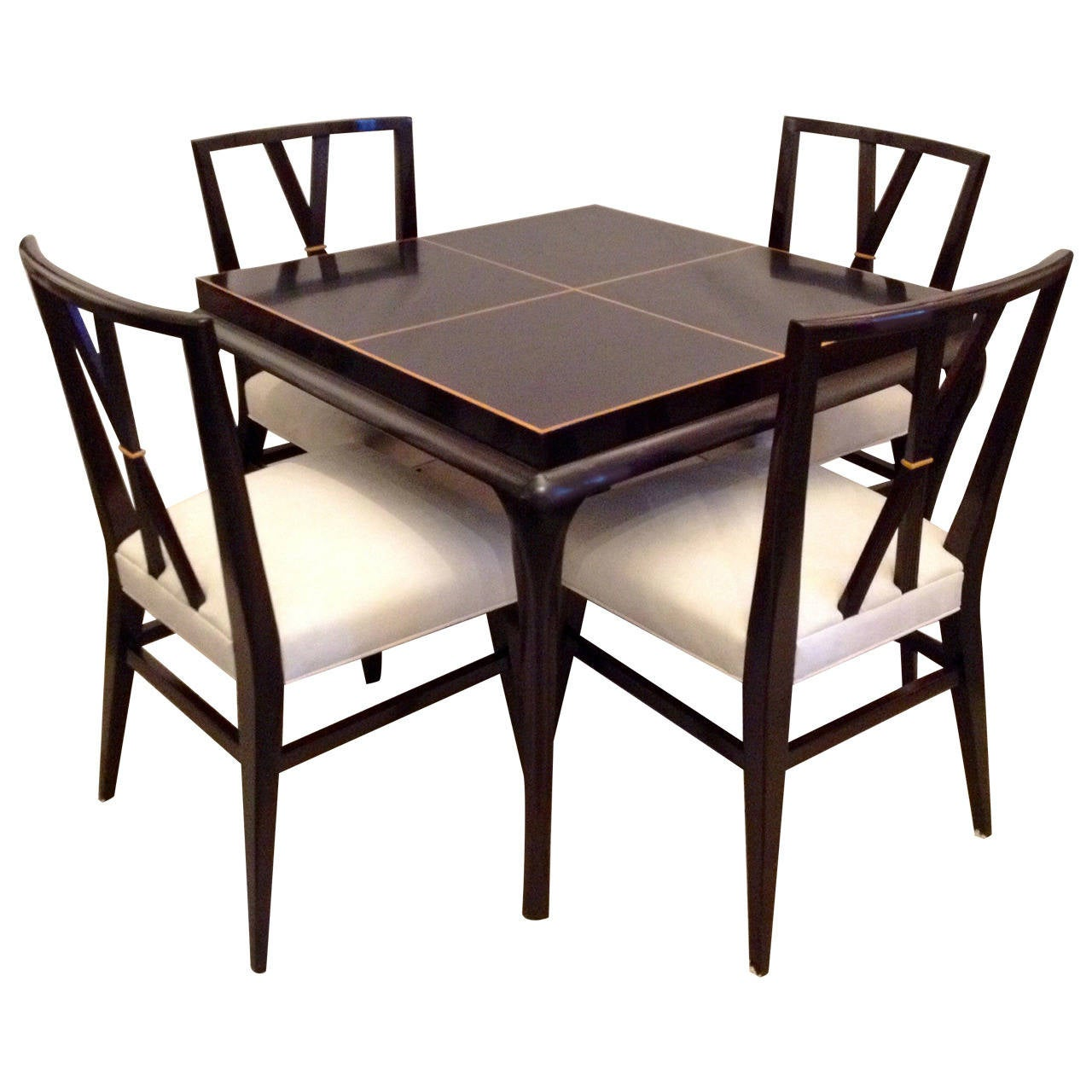 Tommi Parzinger Rare Table and Four X Chairs