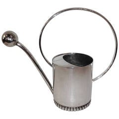 Art deco Danish Silver Watering Can