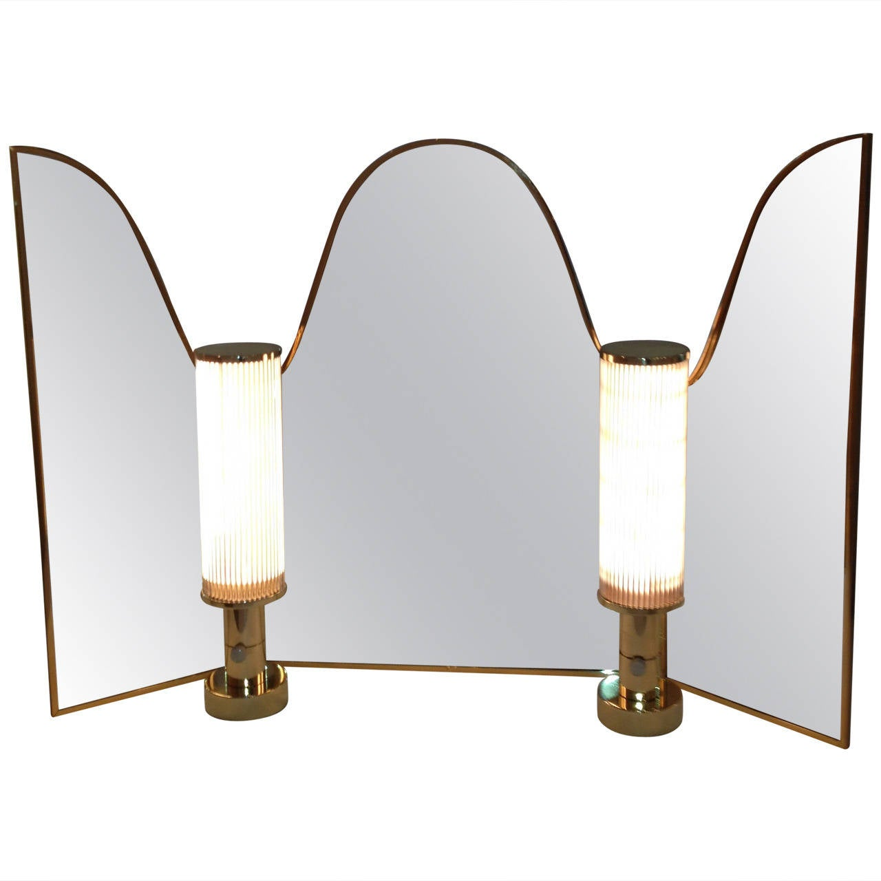 Hansen Co Vanity Mirror with Vanity Lamps