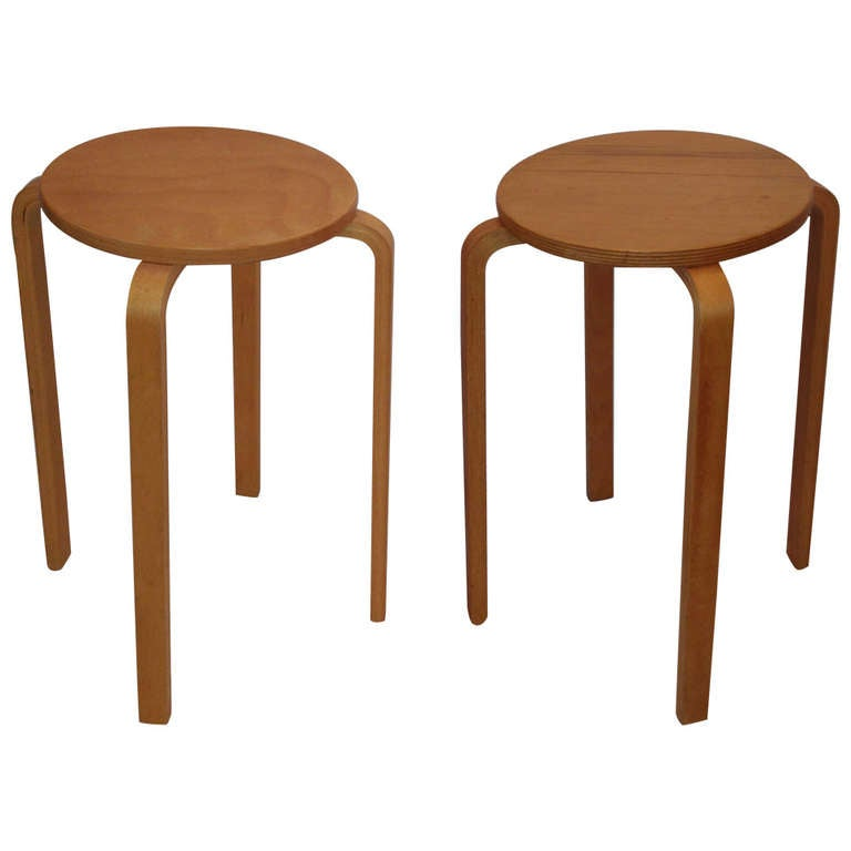 Alvar Aalto Stool 63 Bentwood For Sale At 1stdibs