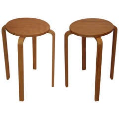 Alvar Aalto  style Stool /Tables 63 Bentwood