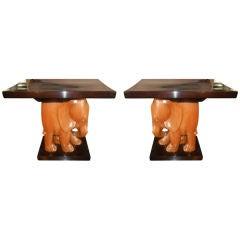 pair elephant tables