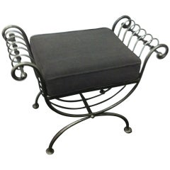 Steel italian Hollywood regency Stool