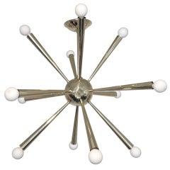 Stilnovo Attributed Sputnik Chandelier Brass