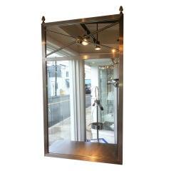 Brushed steel Mirror