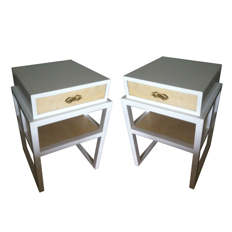 Pair of 1940's Grosfeld House End Tables
