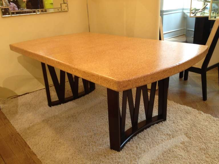 Paul Frankl Cork Top Dining Table At 1stdibs