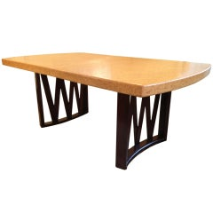 Paul Frankl Cork Top Dining Table
