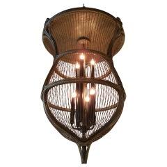 Art Nouveau Bird Cage Chandelier