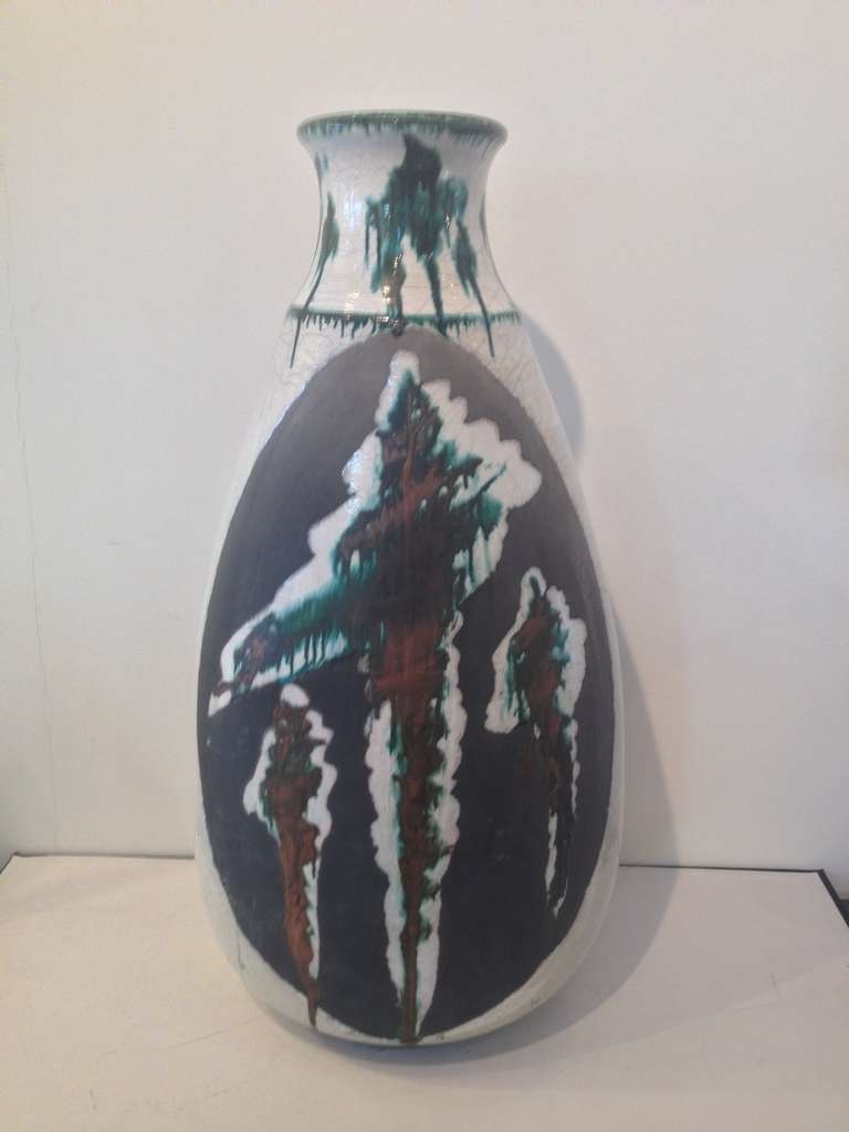 Monumental Ceramic Vase by Nick Trotski For Sale 4
