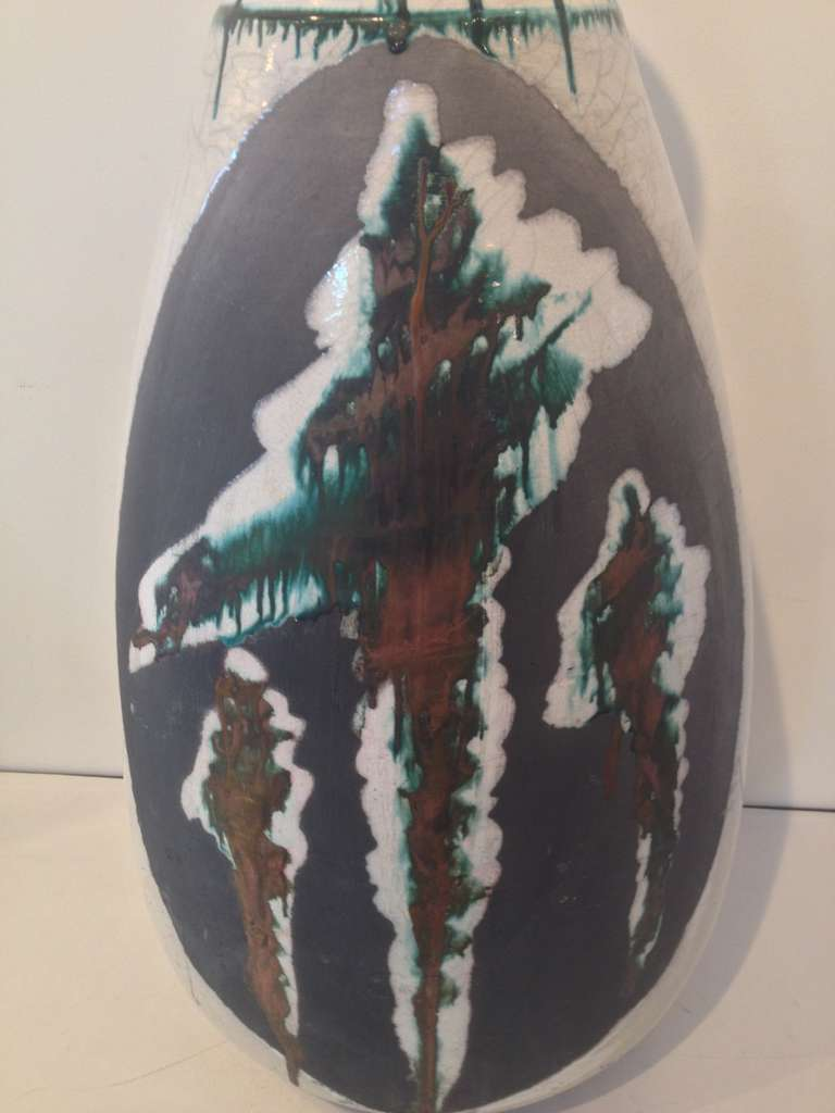 Monumental Ceramic Vase by Nick Trotski For Sale 1