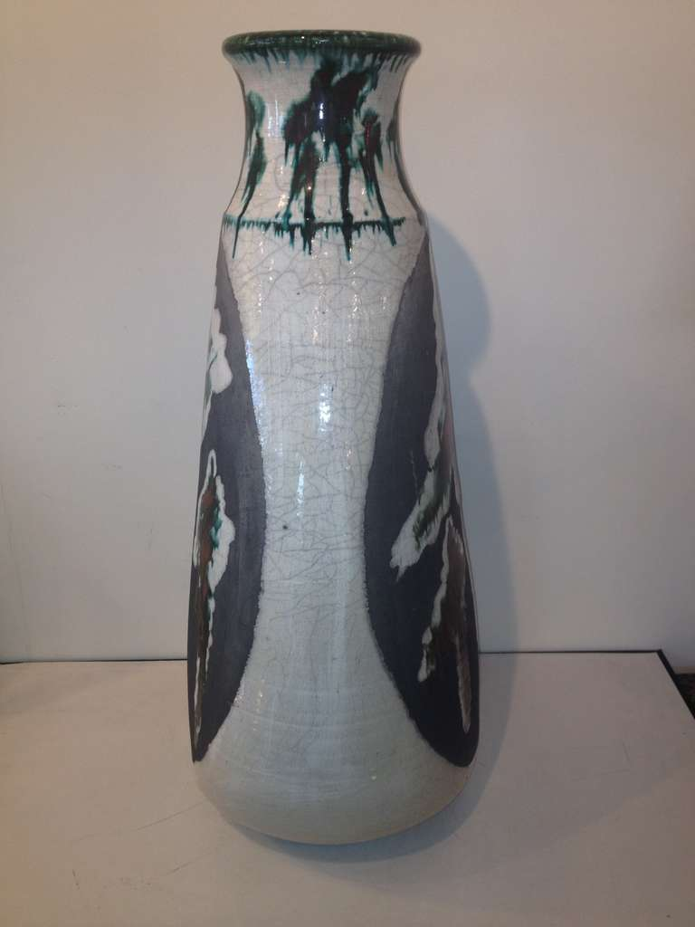 20th Century Monumental Ceramic Vase by Nick Trotski For Sale