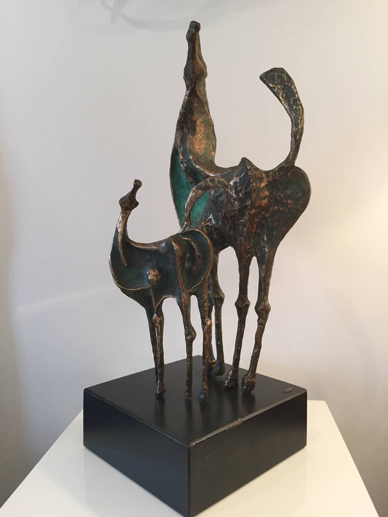 American Curtis Jere Bronze Horses Sculpture For Sale