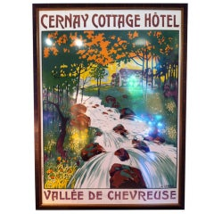 French Poster Cernay Cottage Hotel