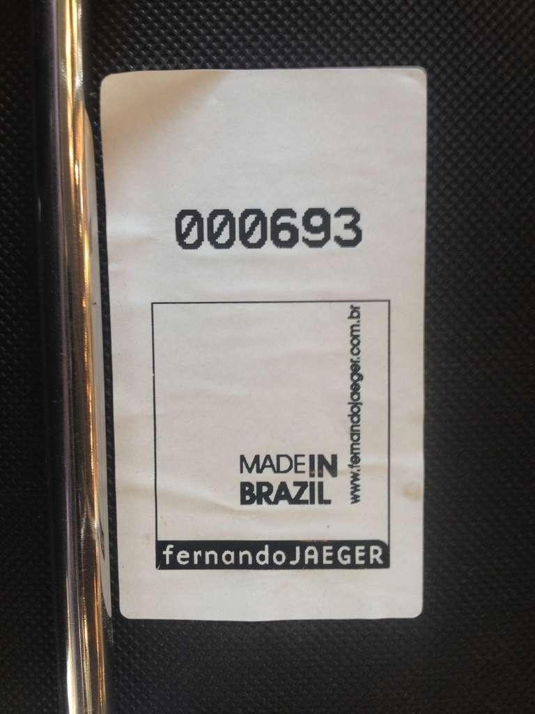Set Of Four Fernando Jaeger Leather Bar Stools At 1stdibs