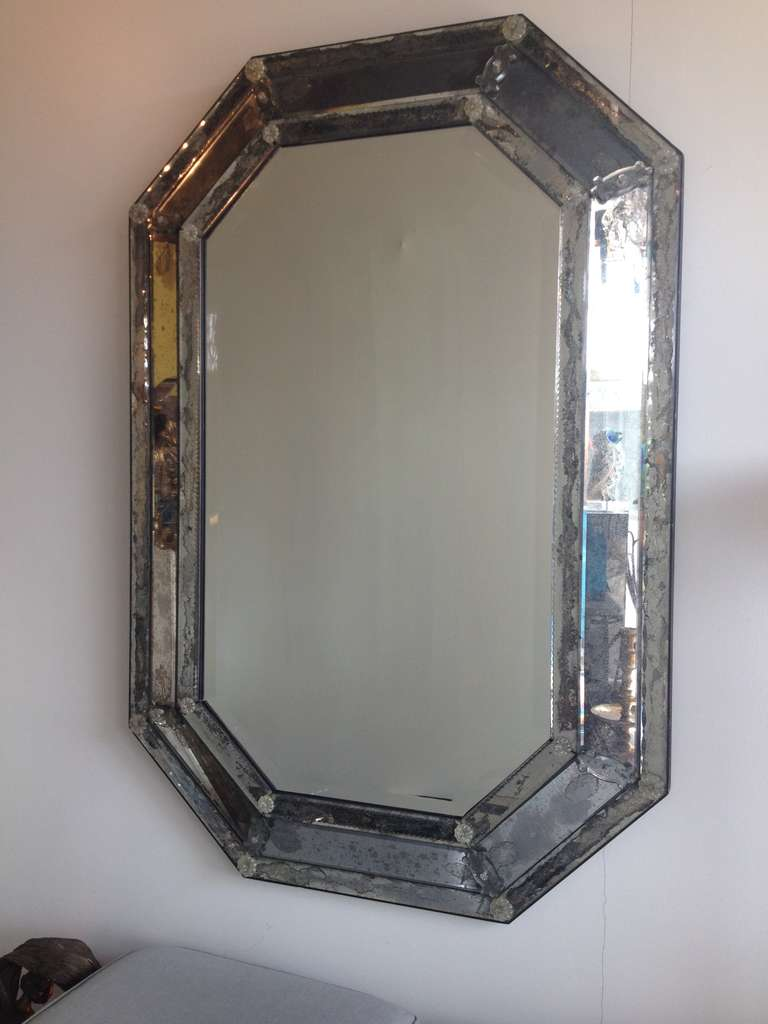 Vintage antique venetian octagon mirror for sale at 1stdibs for Antique wall mirrors