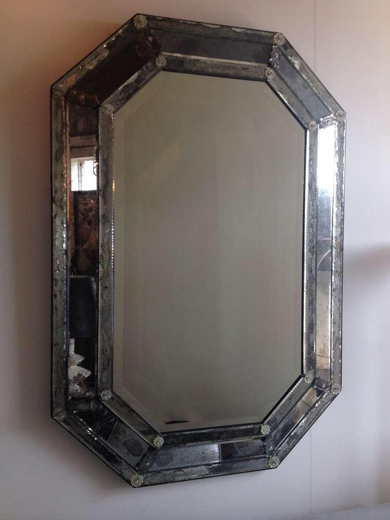 Vintage Antique Venetian Octagon Mirror At 1stdibs