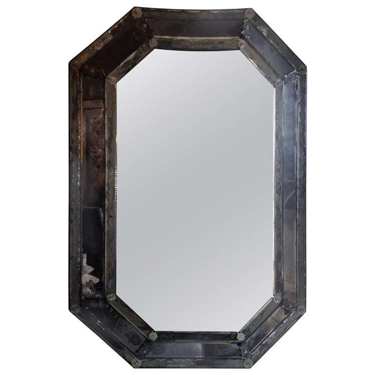 Vintage Antique Venetian Octagon Mirror